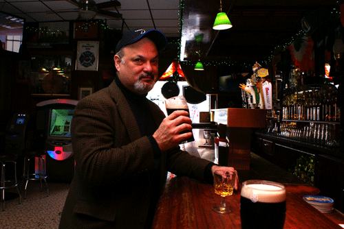 Eddie Vega's toast with a tasty pint of Guinness